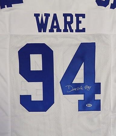 Dallas Cowboys DeMarcus Ware Autographed White Jersey Beckett BAS at ... c37555bfa