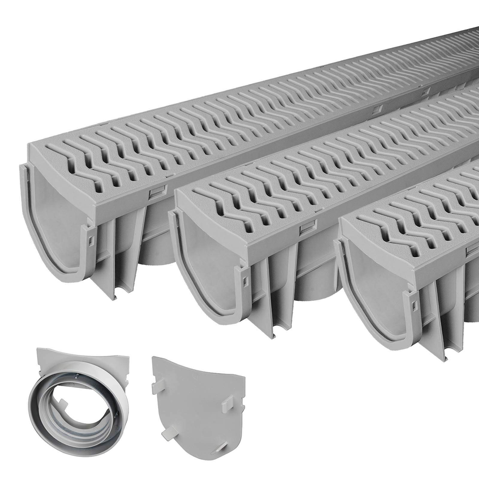 Source 1 Drainage 3-Pack Trench & Driveway Channel Drain System With Grates by Source 1 Drainage (Image #1)