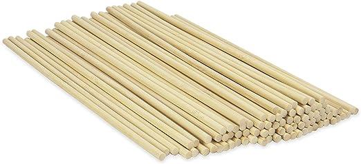 20cmx 6mm SIMUER 30 Piezas Varillas de Madera de Bamb/ú para proyectos de DIY Craft Model Palito de Madera Redondo Varilla de Modelo de Edificio