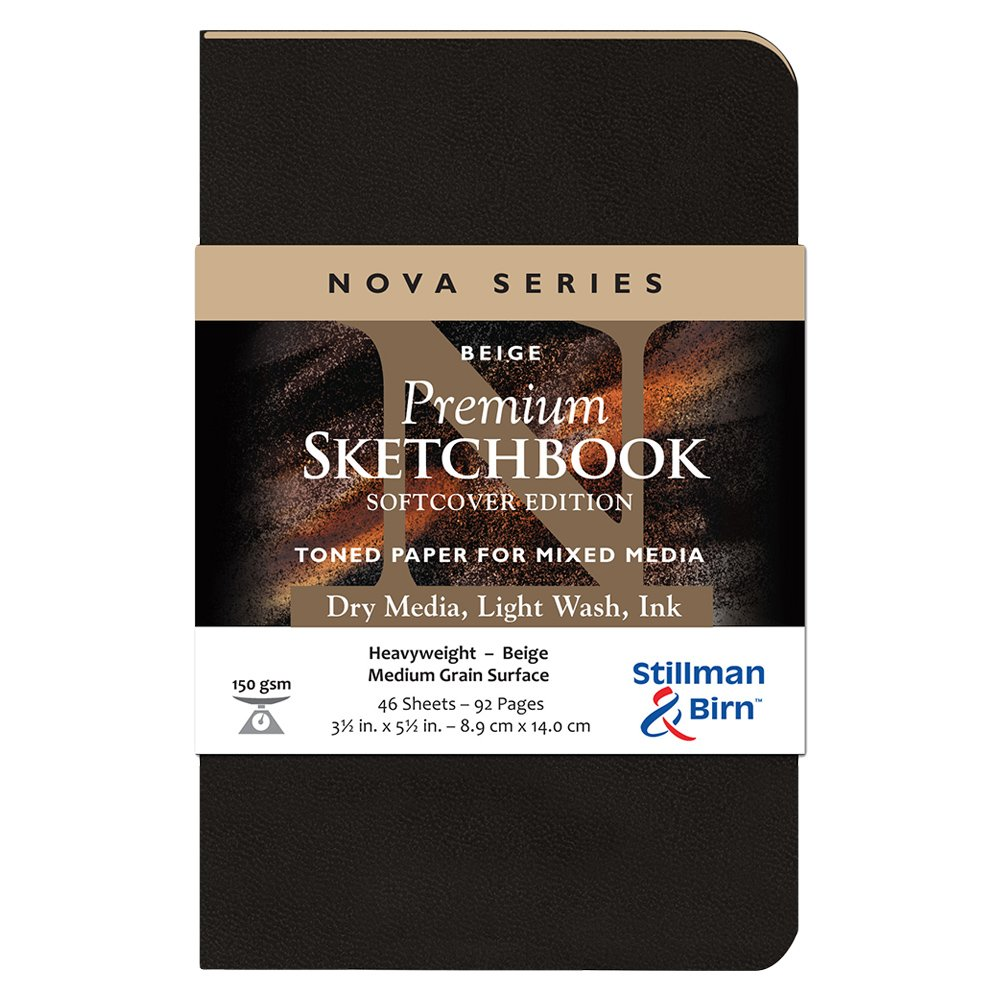 3.5x5.5 Inches Beige Stillman /& Birn Nova Softcover Sketchbook