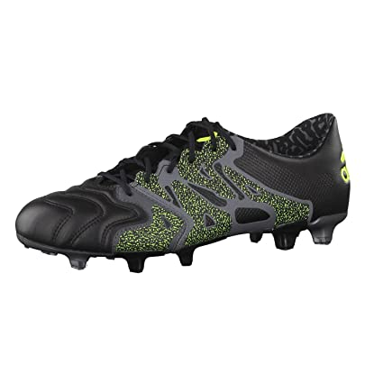 adidas X 15.1 Leather FG AG Football Boots - Adult - Core Black Night bd6a53db1