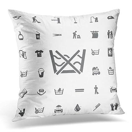 Amazon VANMI Throw Pillow Cover Black Cotton Do Not Washing Delectable Washing Decorative Pillows
