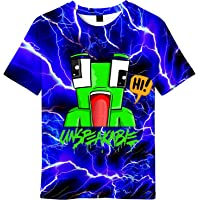 INZENYN Youth Un&speakable Tshirt 3D Double-Sided Printing Tee for Teens Boys Girls
