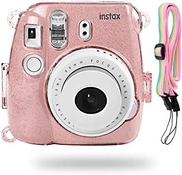Pink Glossy Camera Case for Digital Cameras and Tripod