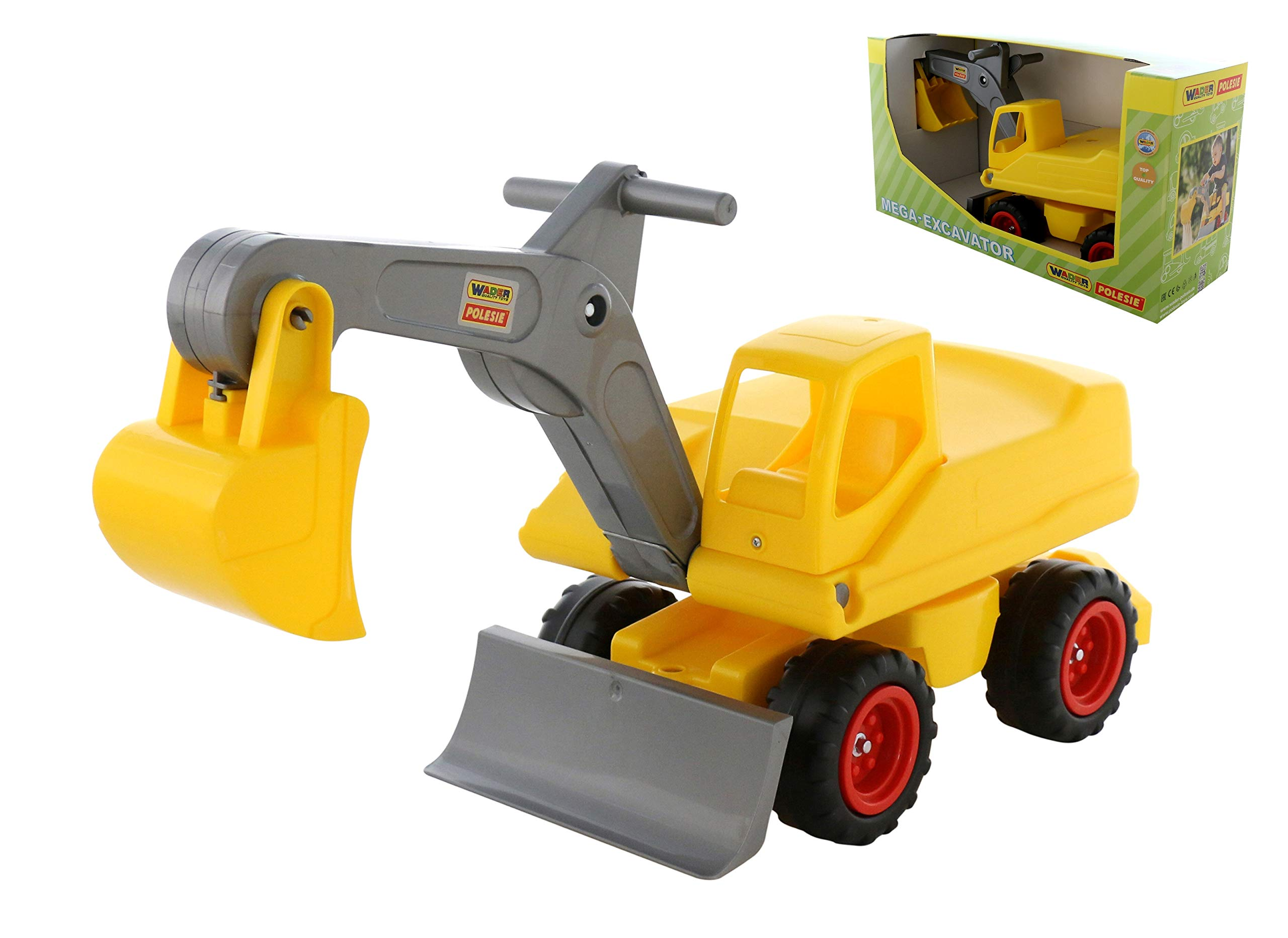 Polesie 67586 Mega-Excavator with Seat (Box) -Toy Vehicless, Multi Colour