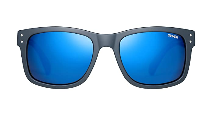ad344be1e13 Image Unavailable. Image not available for. Colour  Sinner Mad River Matte  Dark Blue Icy Blue Mirror Floating Polarized Sunglasses