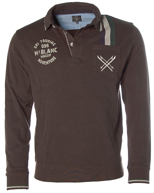 KITARO Herren Sweatshirt Polo Pullover -SKI TOURING ADVENTURE-