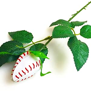 ChalkTalkSPORTS Baseball Rose | Baseball Gifts Genuine Baseball Leather