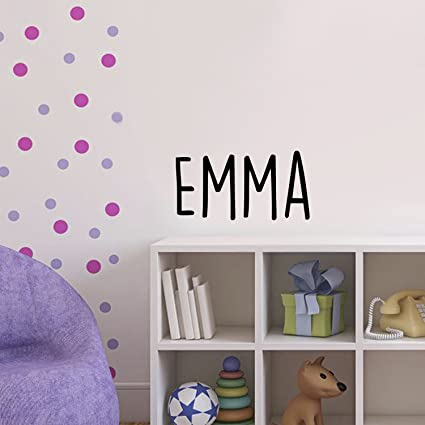 Vinyl Wall Art Decal Girls Name - \'Emma\' Text Name - 12\