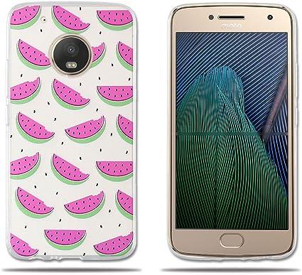 fubaoda,Funda Motorola Moto G5 Plus,Carcasa de Silicona,Dibujos ...