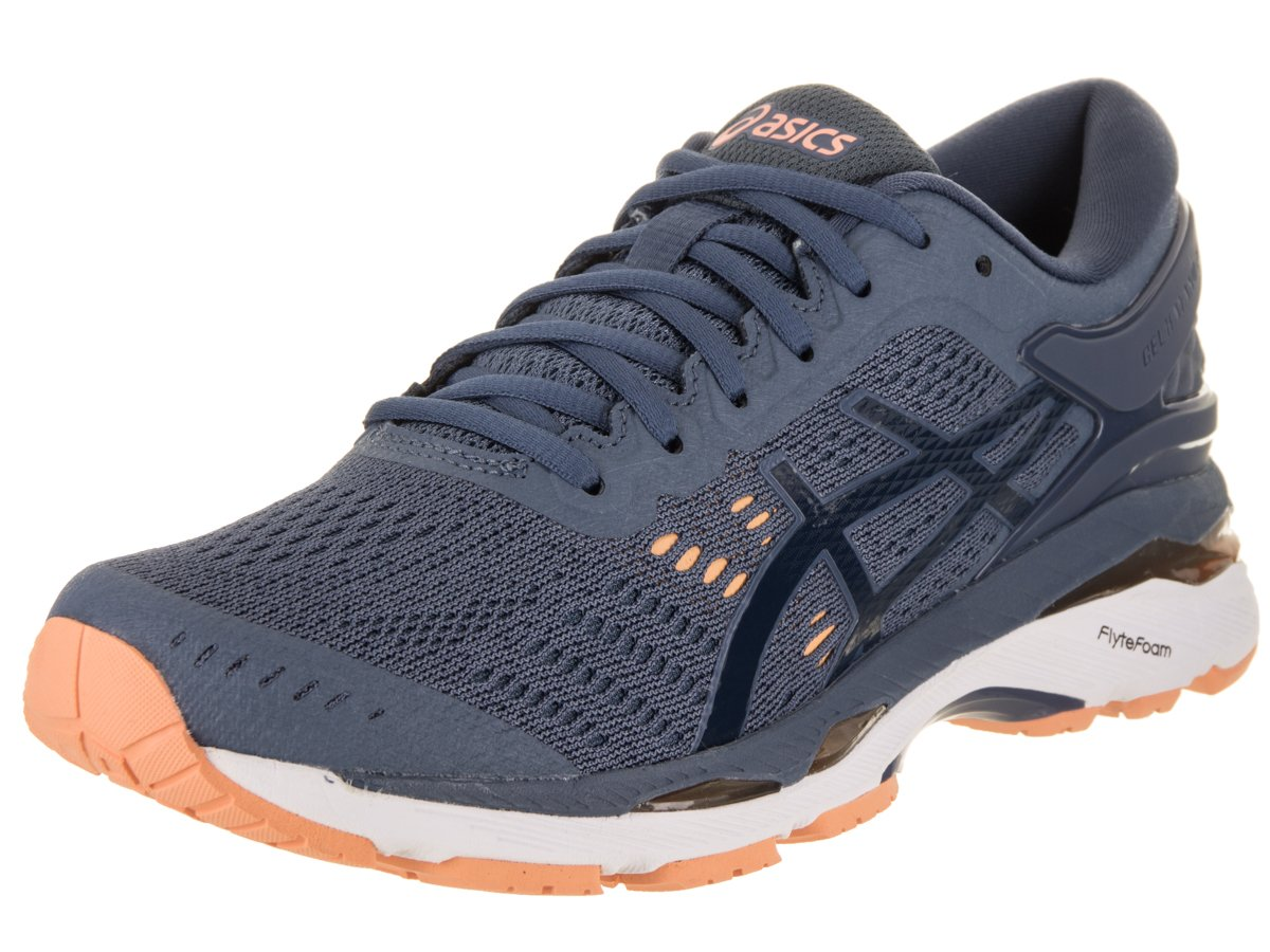 ASICS 7 Women's Gel-Kayano 24 Running Shoe B078HXPYV3 7 ASICS D US|Smoke Blue/Dark Blue/Cantaloupe 7deae6