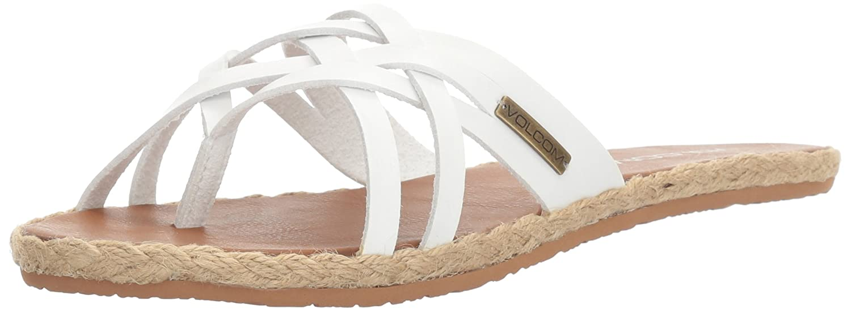 Volcom Women's Check in Espadrille Sandal B01I5MMQB0 7 W US|Vintage White