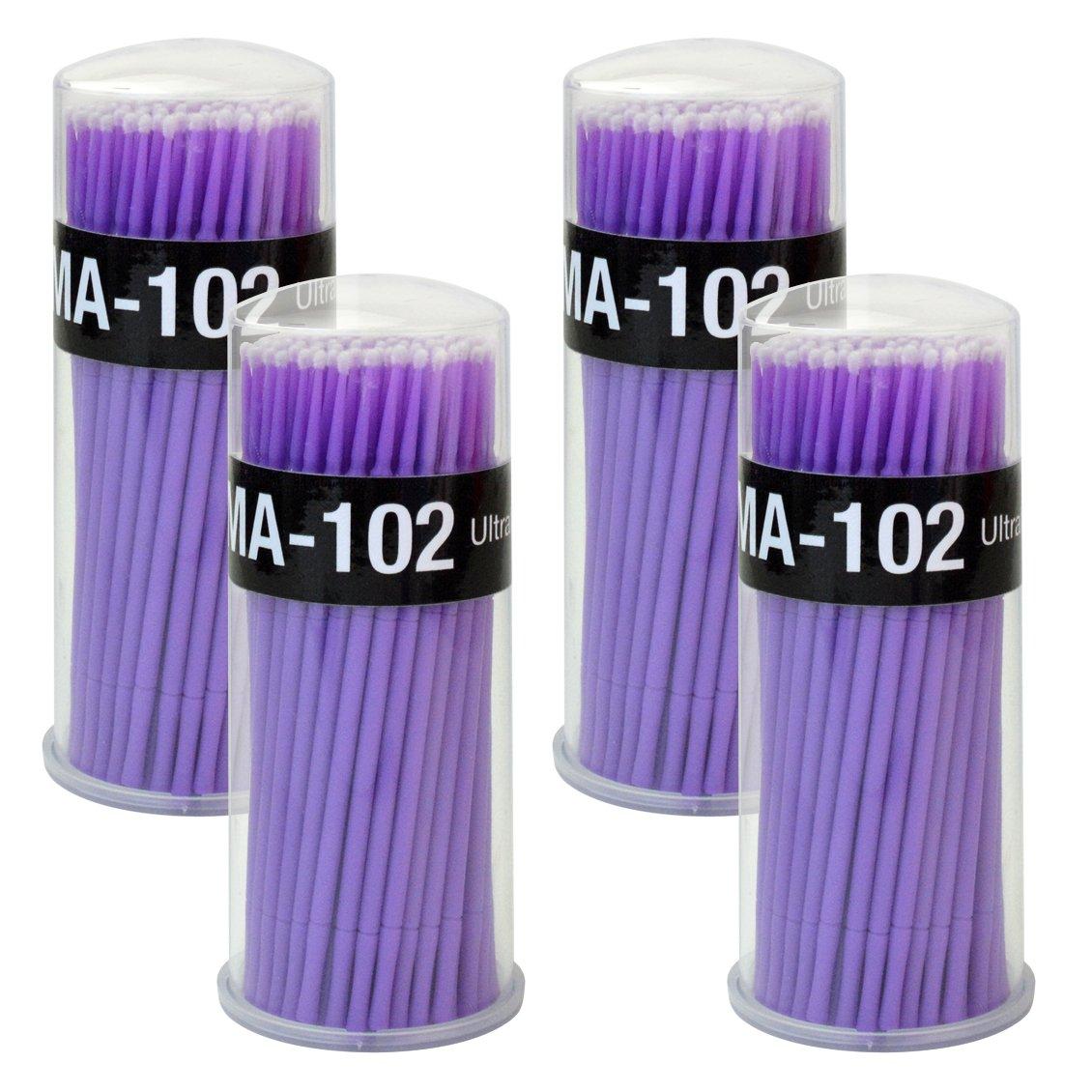 Rbenxia 400pcs Micro Applicators Disposable Brushes for Eyelash Extensions Dental Oral Using