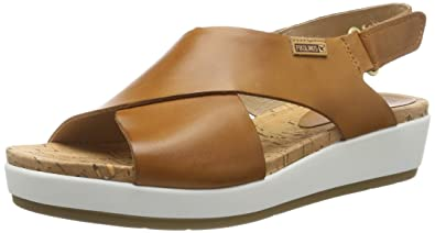 Mykonos Casual Toe Sandals Platform Womens Leather Open Pikolinos SUMVpz