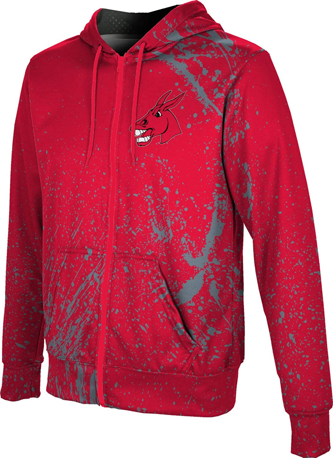 Splatter ProSphere University of Central Missouri Mens Full Zip Hoodie