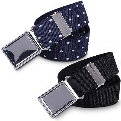 Boy Kids Magnetic Buckle Belt-Adjustable Elastic Children/'s Belts for girls