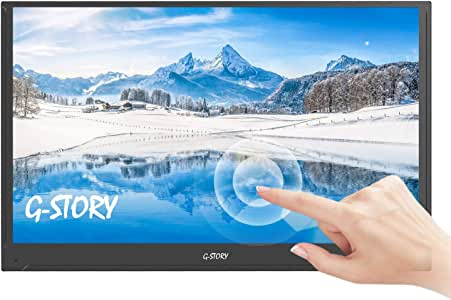 G-STORY 15.6 Inch Ultrathin Touchscreen, FHD 1080P Portable Monitor, NS Direct-Connected/TN Panel/Mini HDMI/Built-in Speakers/HDR/FreeSync/Type-C/60Hz/4ms