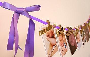 First Birthday Decorations Month Photo Banner For Newborn To 12 MonthsPerfect 1