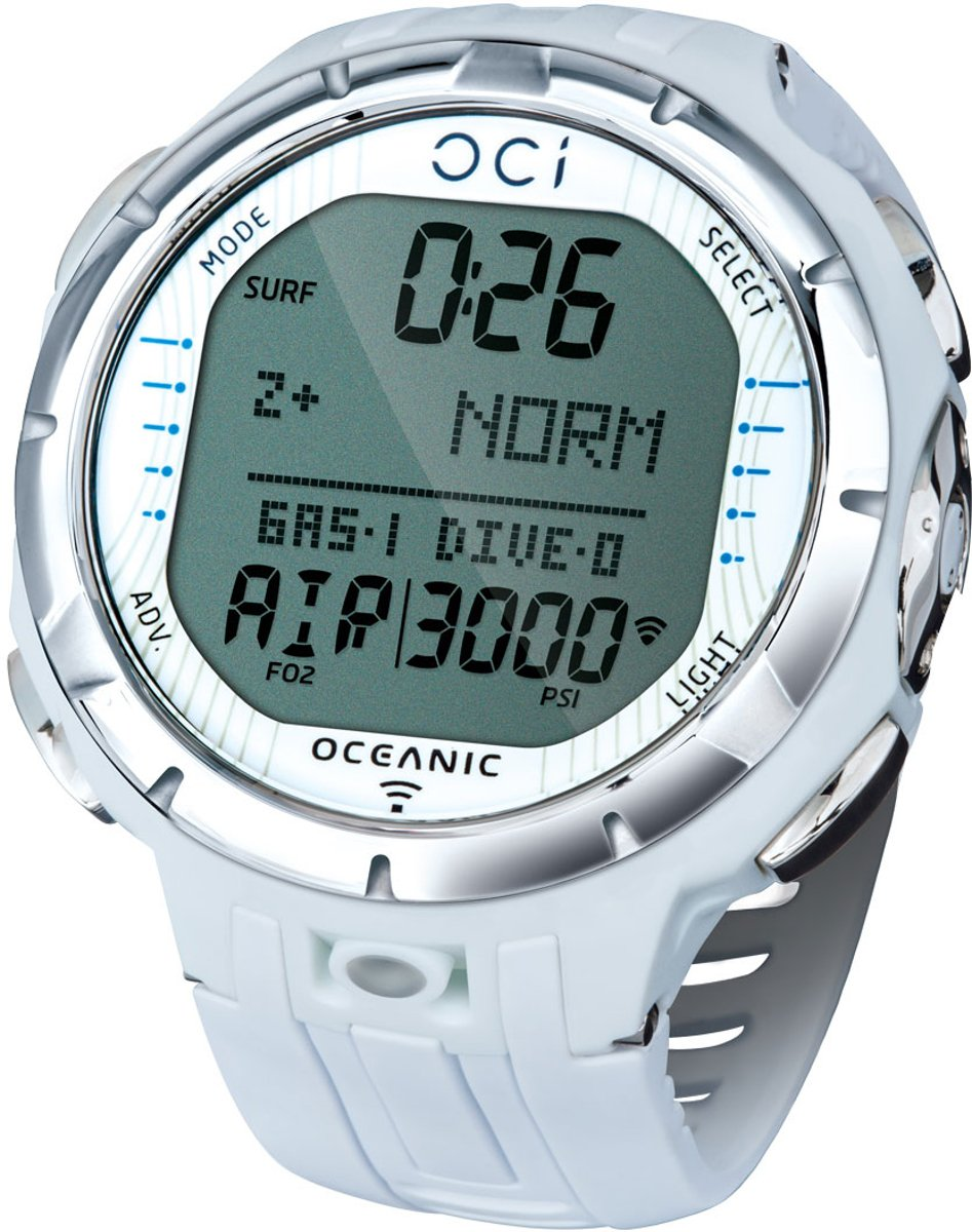 Oceanic OCi Wrist Wireless Air-Integrated Dive Computer White