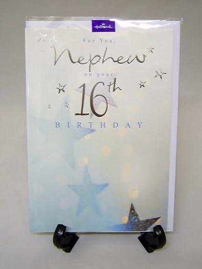 Amazon Hallmark Nephew 16th Birthday Greeting Card Age 16 Boy