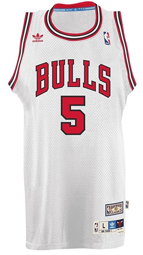 adidas John paxon Chicago Bulls NBA Throw Back Swingman Jersey Camiseta – White, Medium