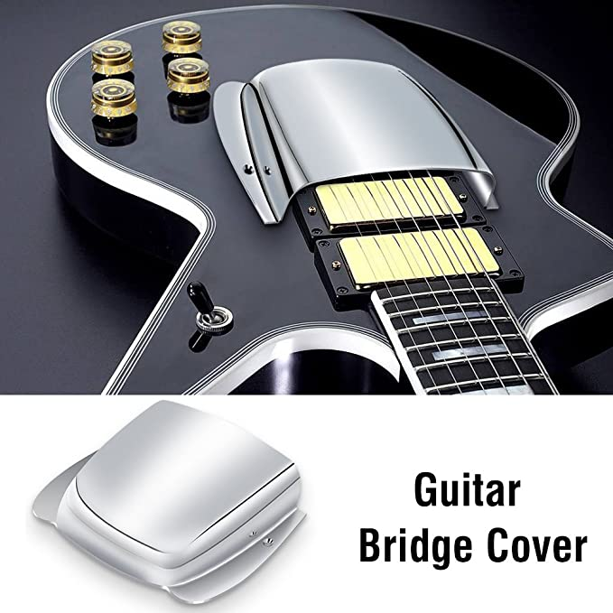 Amazon com: Guitar Bridge Cover Pickup Cover Chrome