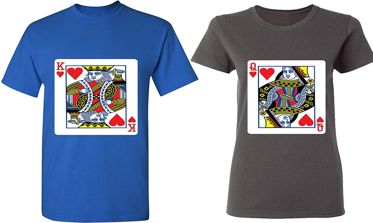 Amazon King Queen Of Hearts Playing Cards Matching Couple