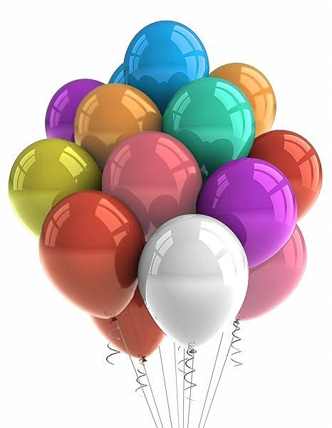 Amazon.com: Globos – Globos de 500 Multicolor – Party ...
