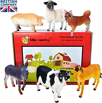Farm Animal Plastic Toy Figures boxed