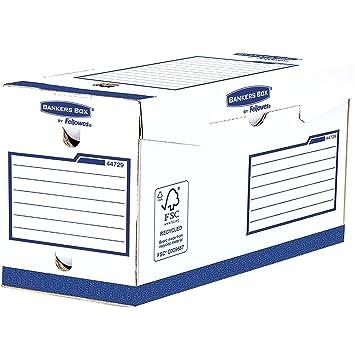 Fellowes 4472902 cajas de archivo Banker Box Heavy Duty pesada carga, A4, lomo de