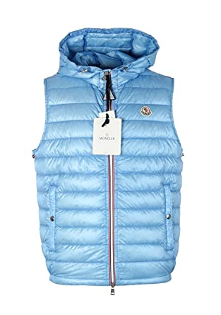 1550be952c900 Moncler CL Blue Gien Hooded Shell Gilet Vest Size 5   XL   54 44 ...