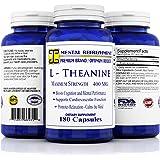 Mental Refreshment: L-Theanine, 400mg 180 Capsules - #1 Maximum Strength