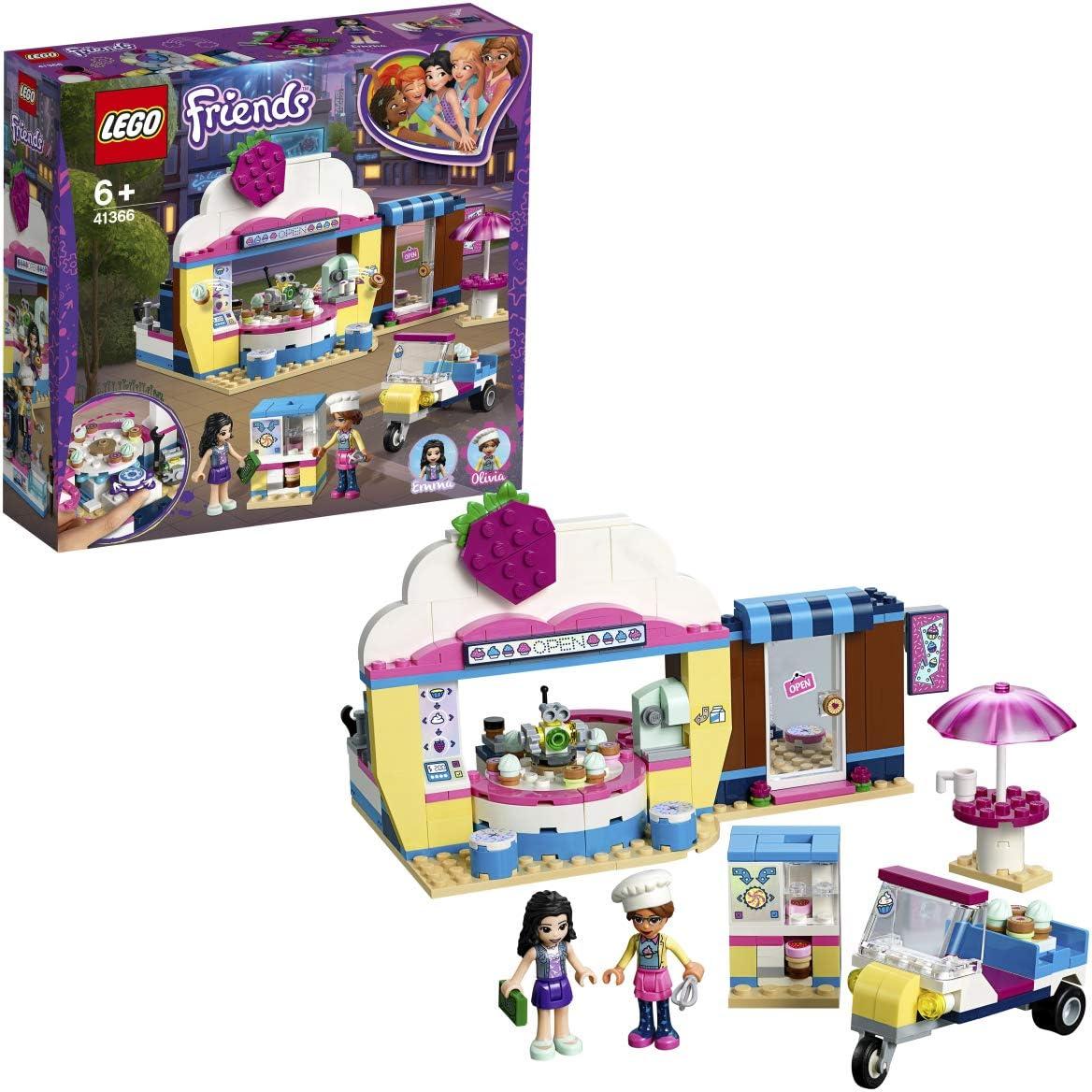 LEGO Friends - Cafetería Cupcake de Olivia Juguete Creativo de Construcción con Detalles para Crear tu Propia Pastelería (41366)