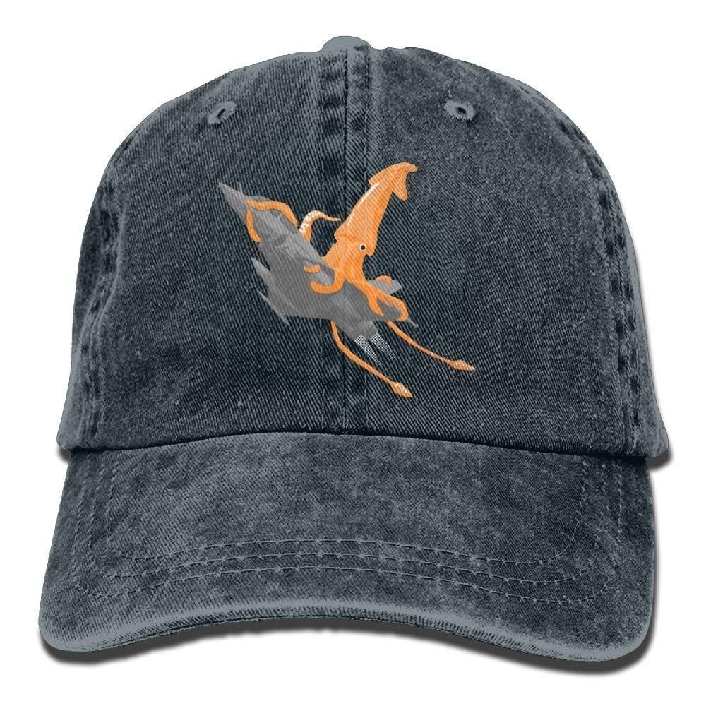 JTRVW Cowboy Hats Aircraft Squid Denim Hat Adjustable Unisex Flag Baseball Hat