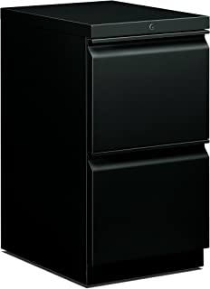 product image for HON 33823RS 22-7/8-Inch Efficiencies Mobile Pedestal File with 2 File Drawers, Black
