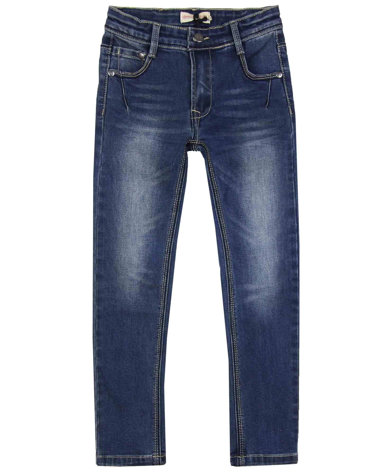 Deux par Deux Boys' Slim Fit Denim Pants in Medium Blue, Sizes 3-12 - 8