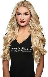 IRRESISTIBLE ME Clip in Hair Extensions Platinum Blonde (#613) - 100% Human