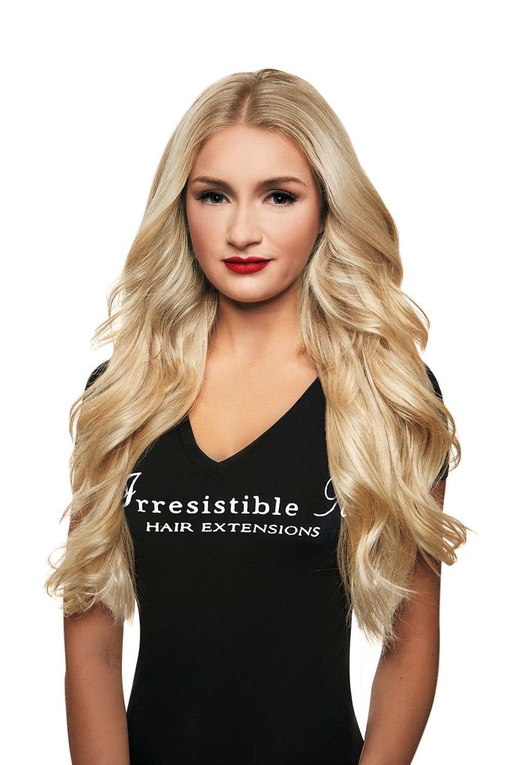 Amazon irresistible me clip in hair extensions platinum amazon irresistible me clip in hair extensions platinum blonde color 613 100 natural remy remi human real hair straight silky touch pmusecretfo Image collections