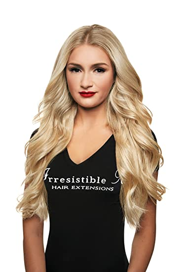 Amazoncom Irresistible Me Clip In Hair Extensions Platinum