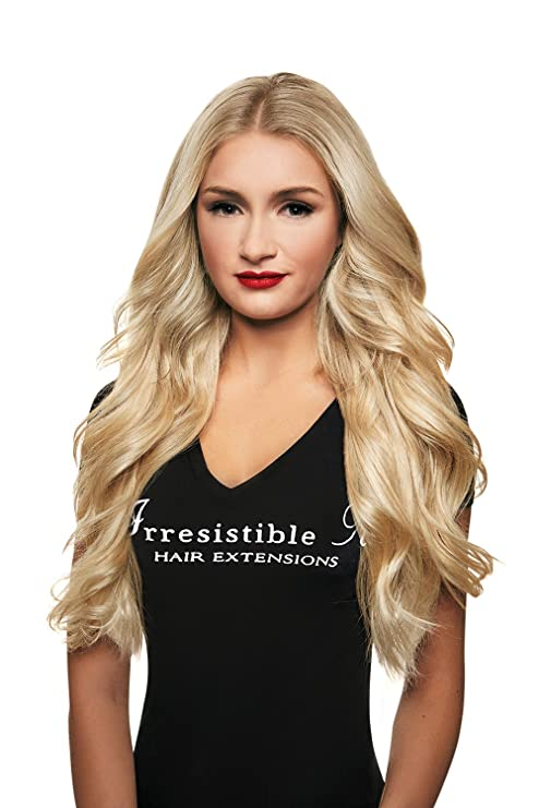 16 140g Irresistible Me Clip In Hair Extensions Platinum