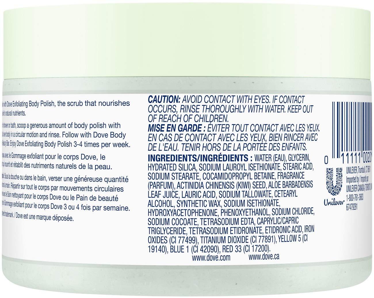 Amazon.com: Dove Exfoliating Body Polish, 10,5 oz (Pack de 2 ...