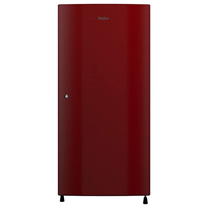 Haier 195 L 3 Star Direct Cool Single Door Refrigerator  HRD 1953CCR E, Red Brushline