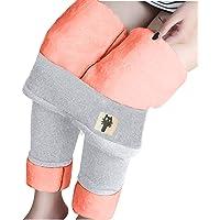 Eauptffy Fleece byxor dam hög midja elastisk slim legging jegging vinterleggings termobyxor för kvinnor flickor svarta…