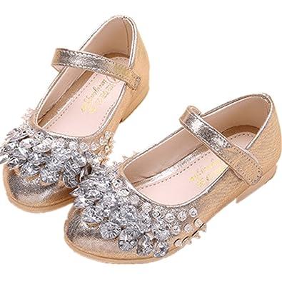 Infabe 子供靴 ガールズシューズ 女の子 フォーマル シューズ ドレス用 プリンセス風 七五三 誕生日 結婚