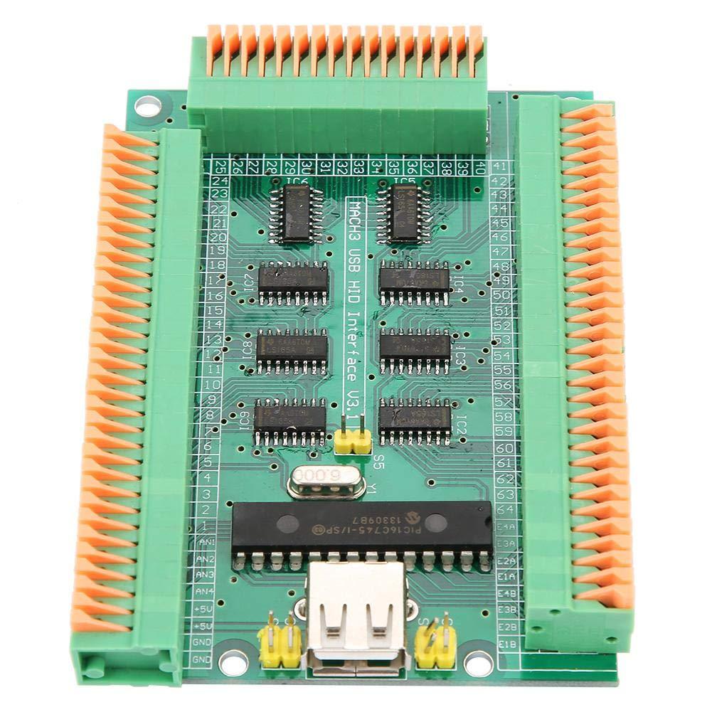 f/ür alle Windows Mach3-Versionen Plug /& Play USB-Karte der Schnittstellenkarte 4 analogen Eing/ängen USB-Kabel 64 digitalen Eing/ängen mit integriertem Ger/ät 4 Encoder-Eing/ängen