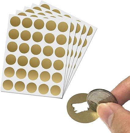 LYTIVAGEN 150 Pcs DIY Carte /à Gratter Autocollant /à Gratter Argent /Étiquette de Scratch Rectangle pour DIY
