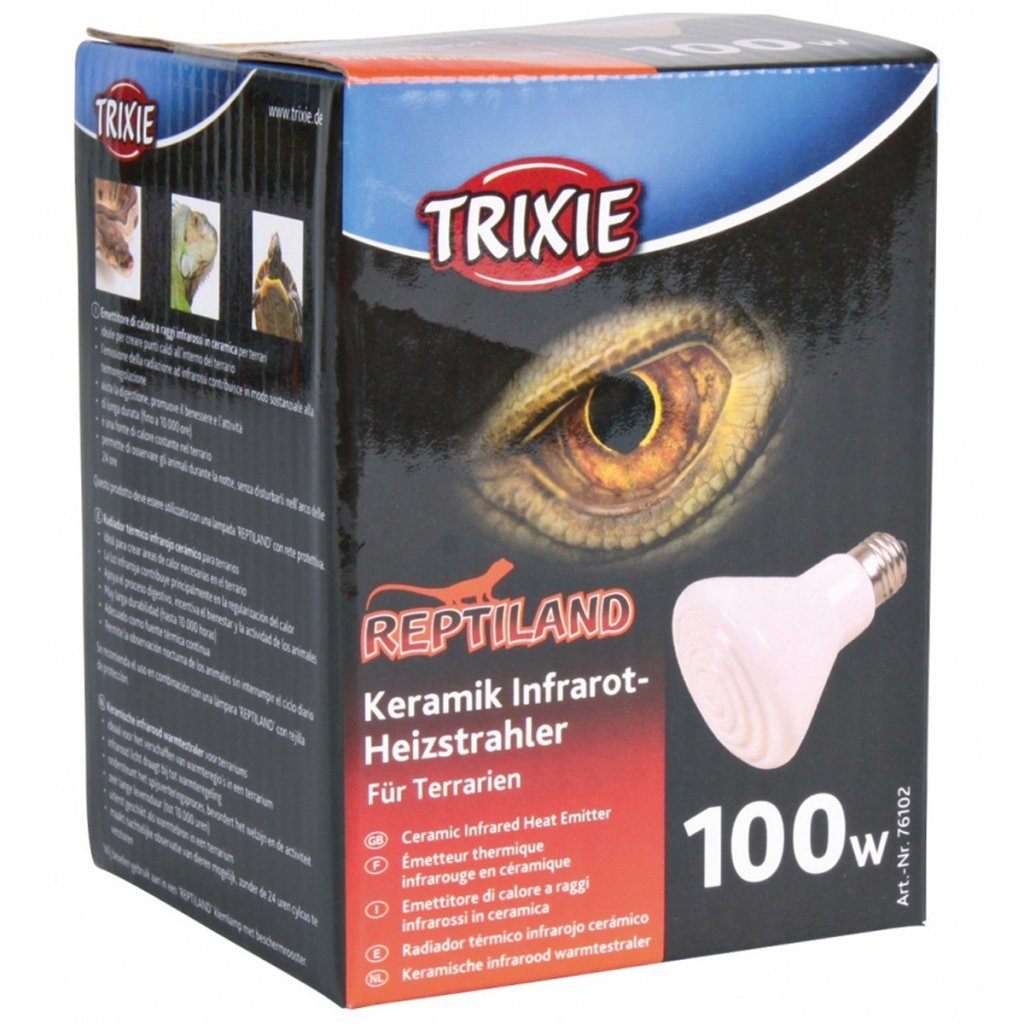 Amazon.com : Trixie Ceramic Infrared Heat Emitter, 100 Watt, 75 x 100 mm : Pet Supplies