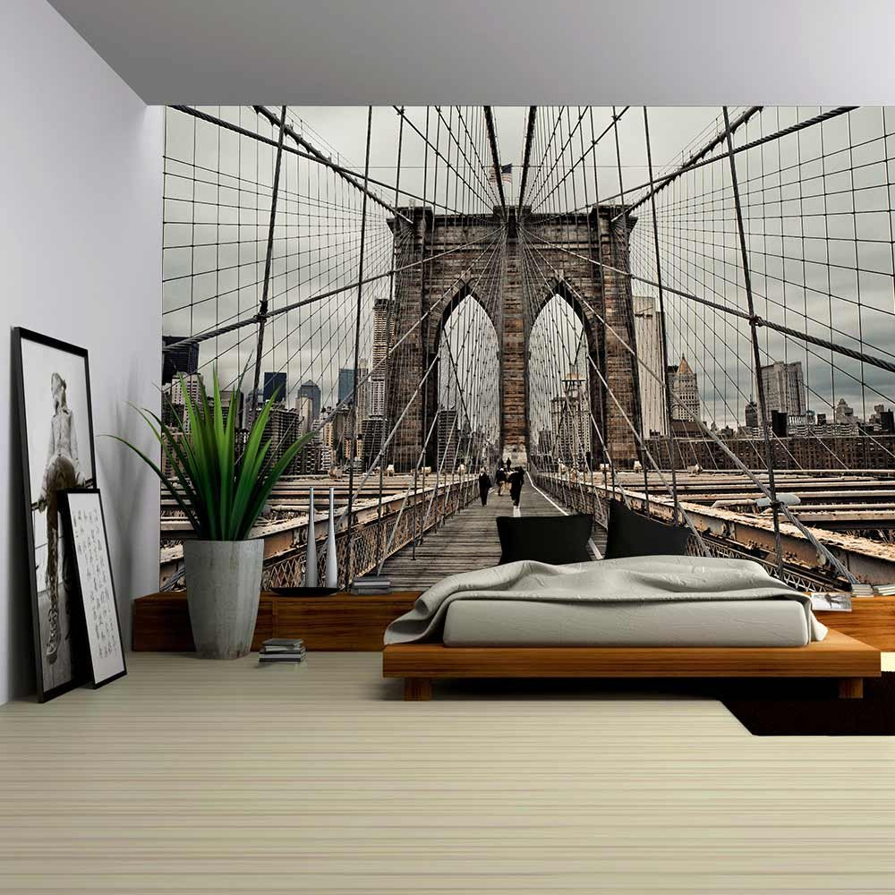 Wall26   Brooklyn Bridge And Cable Pattern   Removable Wall Mural |  Self Adhesive Large Wallpaper   100x144 Inches Part 72