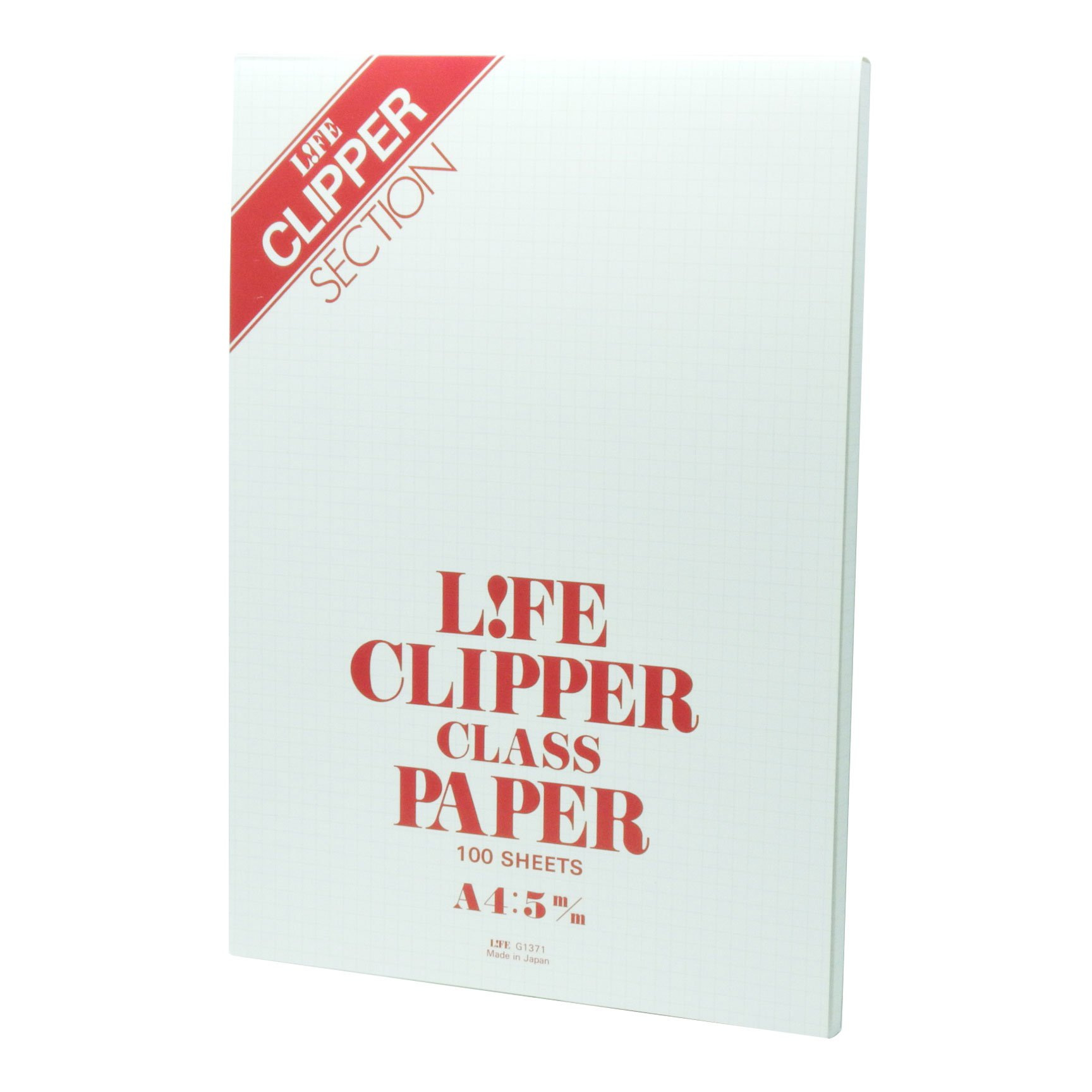 Life A4 size Clipper report pad, 5mm graph-ruled, 100 sheets G1371