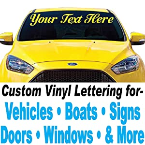 """1060 Graphics 4"""" Vinyl Lettering (4"""" high x Up to 48"""" Long)"""